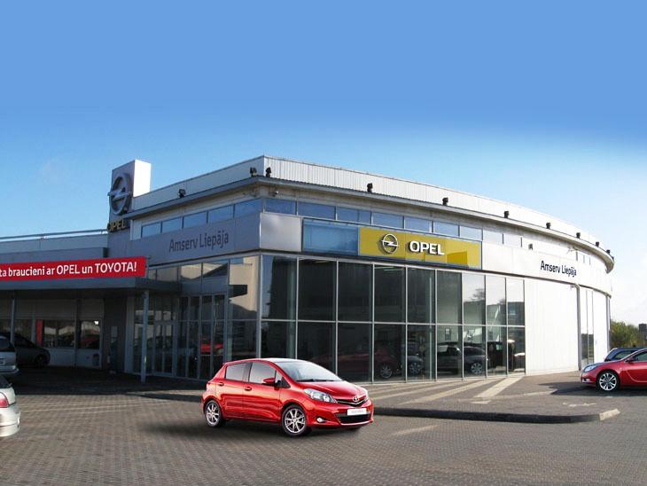 Opel автосалон и автосервис в Вентспилсе